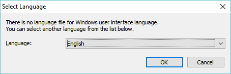 No language file is available